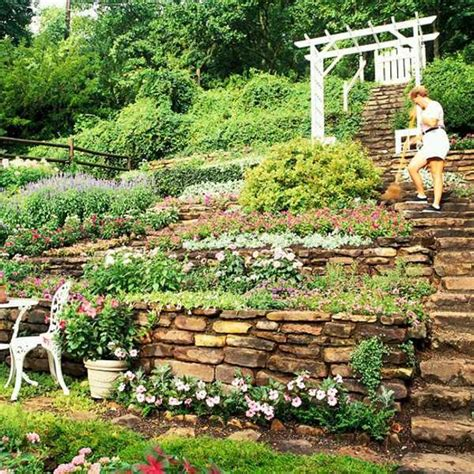 hillside garden ideas landscaping on a slope how to make a beautiful hillside