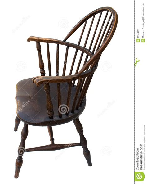 Antique Windsor Armchair Antique Windsor Chair Side View Isolated Royalty Free