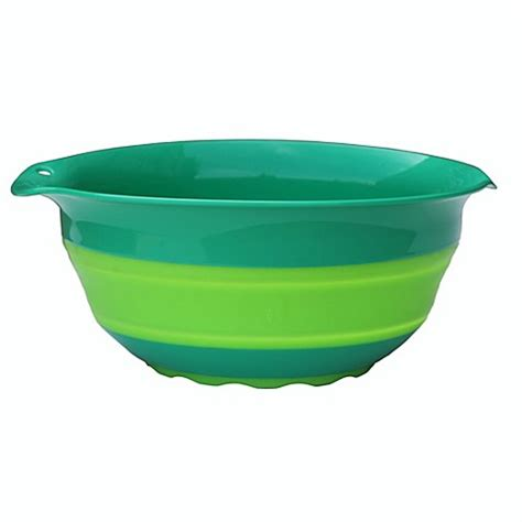 collapsible bowl squish 5 quart collapsible mixing bowl bed bath beyond