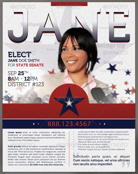 vote for me flyers templates 8 best images of vote flyer template political election