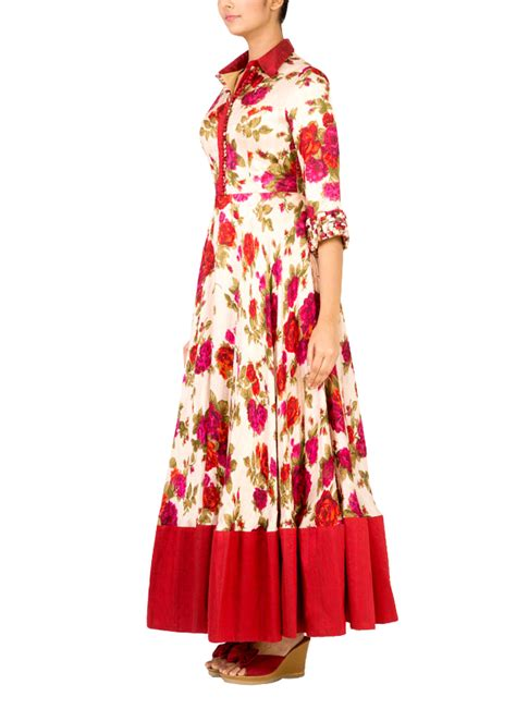 Maxi Dress Gamis Maroon Bordir Bunga radhika gulati beige and maroon floral maxi shop gowns at strandofsilk