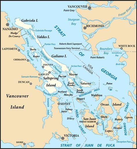 map of canada with islands gulf islands