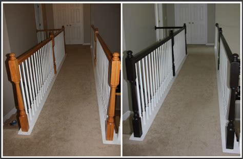 Gel Stain Banister by Frugal Home Improvement Idea Using Gel Stain On Banisters