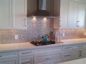 love the metallic backsplash metal backsplash pinterest