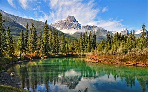 natural scenery   canadian forest lake wallpaper