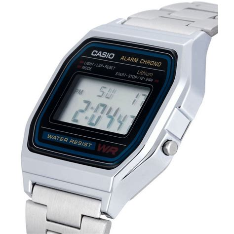 casio a158 casio a158 reloj digital plata pccomponentes