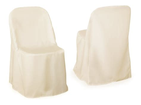 Ivory Chair Covers by 1 Ivory Folding Chair Cover Wedding Decorations Ebay