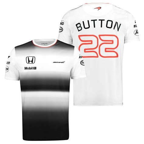 Tshirt Honda Cbf mclaren honda mens gents official 2016 jenson button t shirt top black ebay
