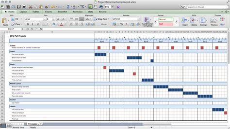 best photos of multiple project calendar template excel