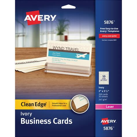 avery magnetic business cards template avery 5876 laser print 2 sided business cards the office
