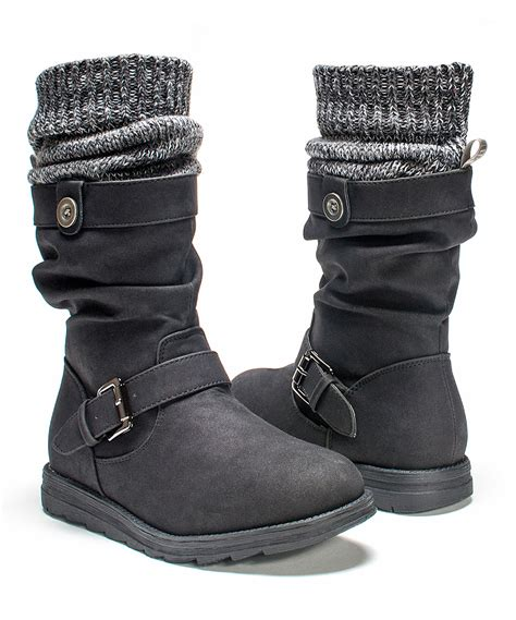 knit cuff boots muk luks black sky knit cuff boot zulily