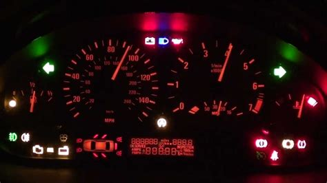 bmw 325i warning lights bmw e46 dash light up trick shows all warning lights