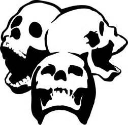 skull stencil clipart best