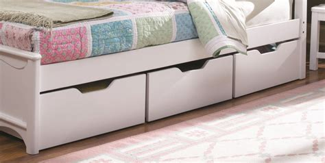 Underbed Storage Drawers White Bed With Storage Drawers Underneath