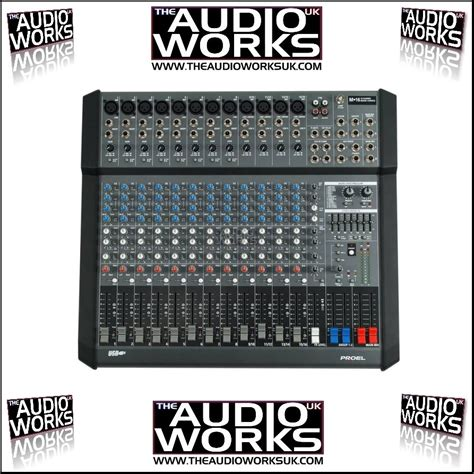 Mixer Audio Proel proel m16 usb live series mixer audio works