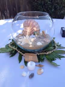 Nautical Themed Table Centerpieces - beach wedding hawaiian theme centerpieces seashells