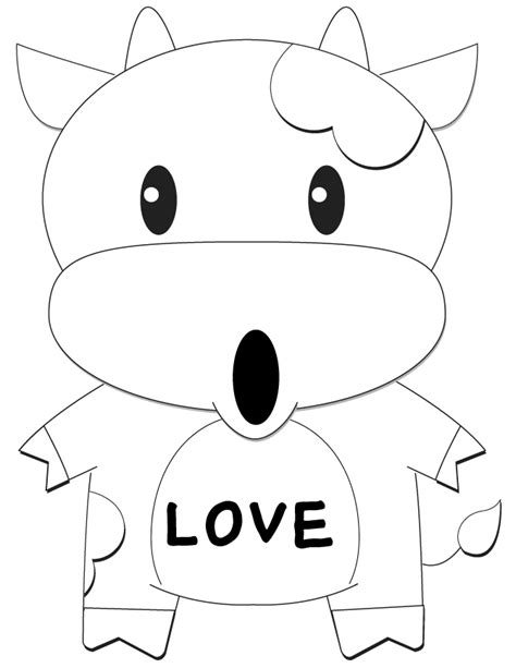 coloring pages cows free printable picture of a cartoon cow cliparts co