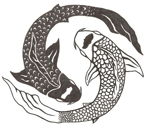 yin yang koi fish tattoo w4 principles of design 2d design