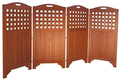 outdoor room dividers privacy screens outdoor acacia 4 panel privacy screen 48 quot screens and