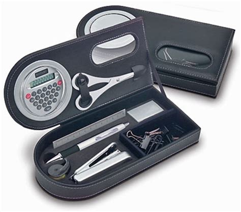 travel desk for portable office desk set calculator and accessories