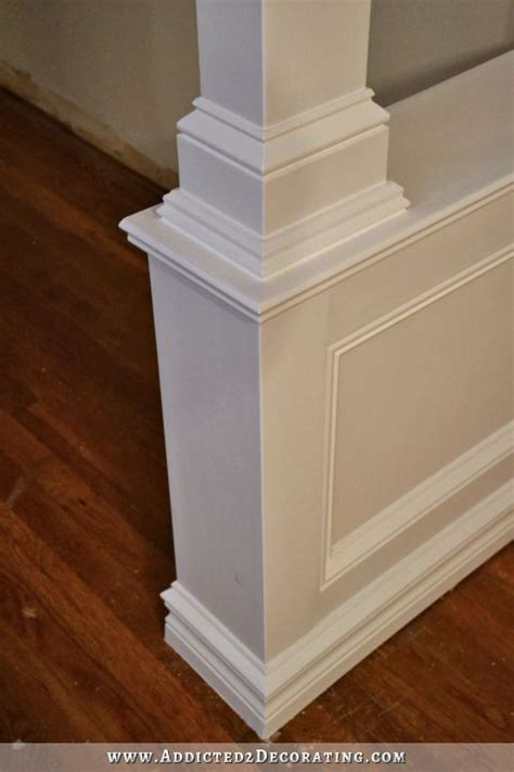 Entryway Definition Pony Walls With Columns Finished