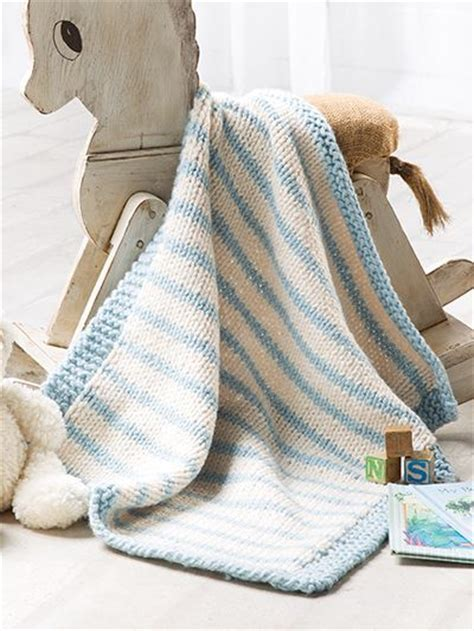 Inc Baby Blanket by Free Crochet Pattern This Blue Striped Blanket Designed By Candi From Knit