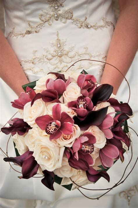 wine colored flowers wine colored bouquet vintage theme