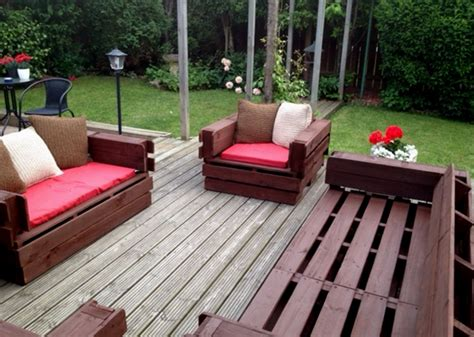 patio furniture made with pallets from pallet to patio