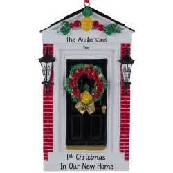 first christmas in our new home black door ornament