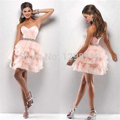 Klething Manggar Pink Dress 7 8th 2015 pink discount corset homecoming dresses 8th grade graduation prom dresses with