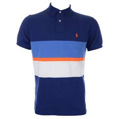 Poloshirt Ralflauren polo ralph custom fit multi stripe polo shirt in navy polo ralph from n22