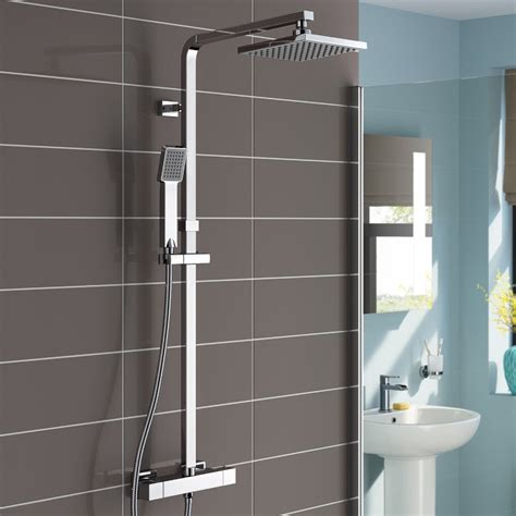 Shop Lamia Thermostatic Double Head Shower Set At Bathselect Shower Bathroom Sets