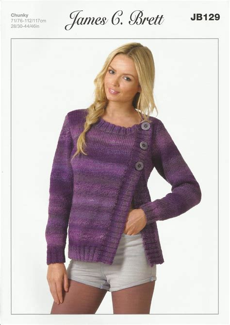 knitting pattern ladies cardigan james c brett ladies cardigan in marble chunky knitting