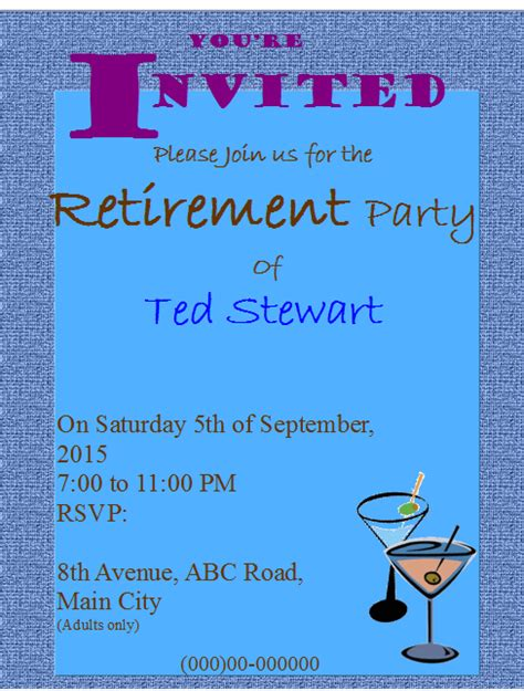 retirement invitation template word retirement flyer images
