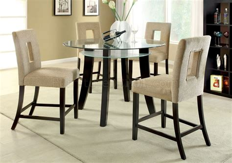 9 Piece Formal Dining Room Sets cm3127pt grandam ii 5pc counter height dinette set w glass top