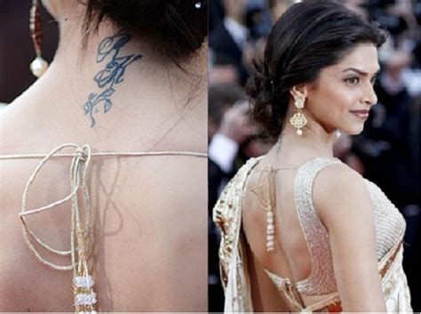 deepika padukone tattoo removed up with deepika s ranbir sussanne erases