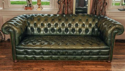 green chesterfield sofa for sale vintage green leather chesterfield sofa at 1stdibs