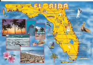 map to ta florida postcards from states map card from florida