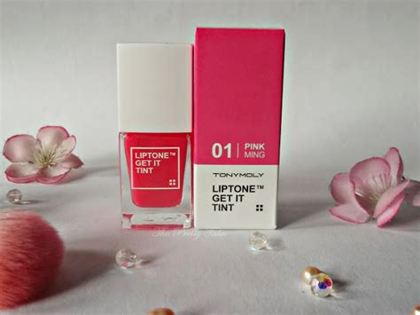 Harga Tony Moly Lip Tint Shade Cherry Pink No 1 tony moly liptone get it tint review pink ming the