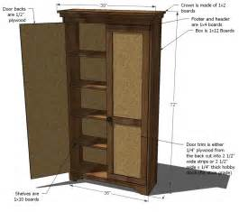 pdf diy free armoire plans copies of plans in