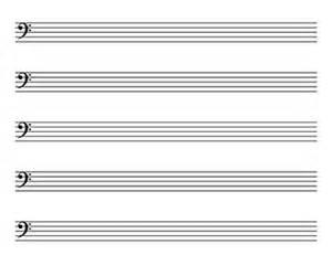 Blank Sheet Bass Clef by Blank Sheet Landscape Kid Sized Bass Clef