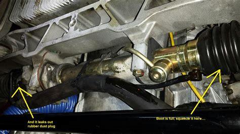 boat steering wheel leaking fluid power steering rack leak rennlist discussion forums