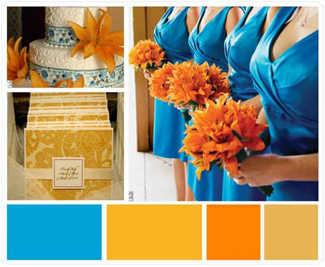 orange and blue combination which wedding colors should you choose for your theme