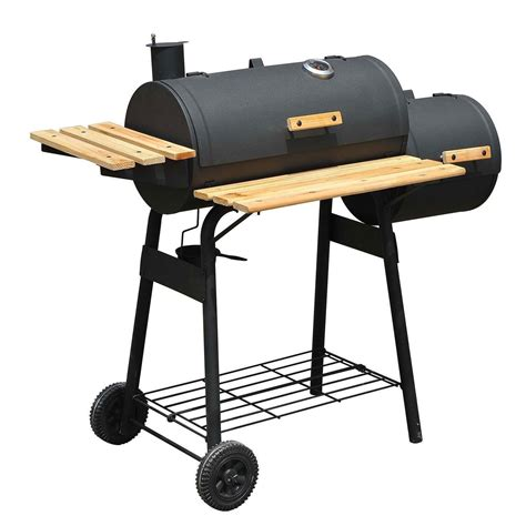Backyard Grill Bbq 48 Quot Backyard Bbq Grill Charcoal Barbecue Cooker Offset Smoker Combo With Wheels Ebay