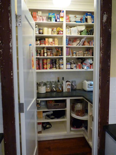 Open Door Pantry by Kitchen