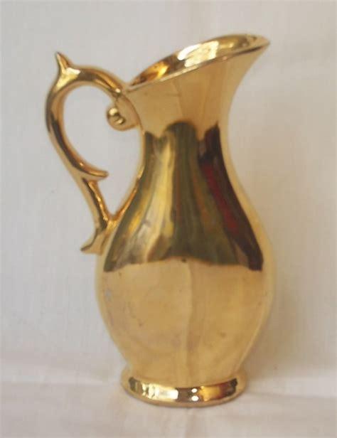 Gold Colored Vases Gold Color Porcelain Ewer Vase 5 5 In Pretty