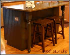 Easy Way To Paint Kitchen Cabinets Diy Kitchen Island Update Sweet Silly Chic