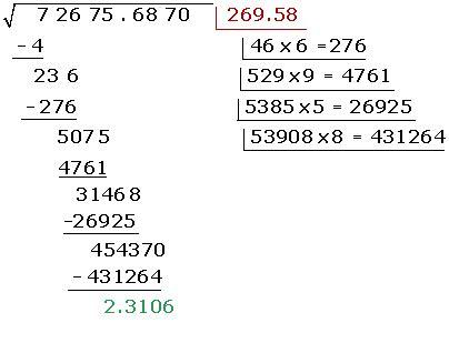 raiz cuadrada de 22 decimales