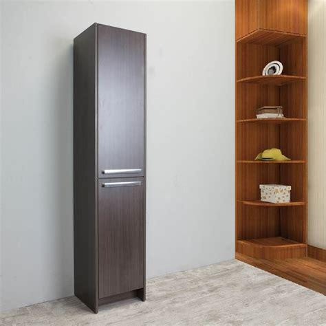 eviva lugano  grey oakmodern bathroom linen side cabinet storage decors