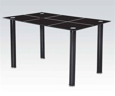 Black Rectangle Dining Table Acme Furniture Riggan Black Rectangle Dining Table The
